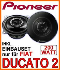 Fiat Ducato II Typ 244 - LAUTSPRECHER PIONEER 10cm FRONT vorne BOXEN EINBAUSET