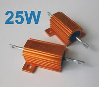 5Pcs 25W Watt Power Metal Shell Wirewound Resistor 1K Ω ~ 50K Ω ohm Class J ±5%