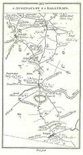 Antique map, Roads from Lisburn to Ballyhays (2)