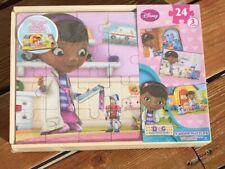 BRAND NEW - Disney Doc McStuffins 3 Wood Puzzles 24 Pc Puzzles 3 Pack