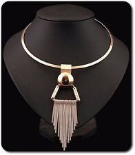 Kabel-Kette Halskette Kette Anhänger Metall Statement-Kette