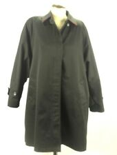 London Fog Black Red Lined Women Trench Coat Black Size 12