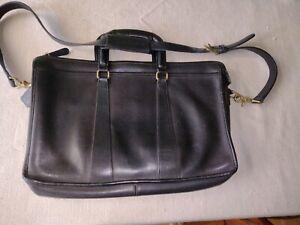 Coach Mens Briefcase Bag Black Leather