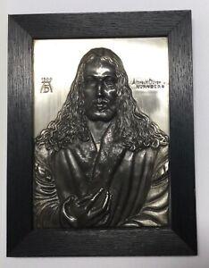 Albrecht Dürer um 1900 Bild Metall versilbert Nürnberg relief