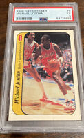 1986 FLEER BASKETBALL STICKER #8 MICHAEL JORDAN RC PSA 5 EX BULLS