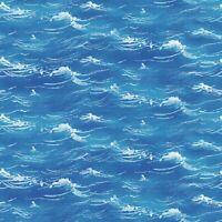 Fabric Sea World Water Ocean Texture STUDIOE Cotton 1/4 Yard 5049