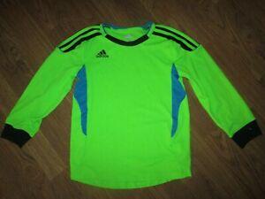 Boys ADIDAS CLIMACOOL  athletic soccer goalie jersey shirt sz  7X 7 X