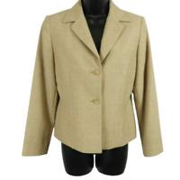 NWT Pendleton Tan 100% Wool Button Front Blazer Jacket Women's Petite Size 6P
