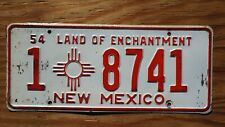 1954 New Mexico License Plate # 1 - 8741