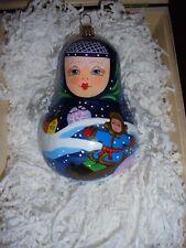 Komozja Polonaise Babushka Glass Ornament New W/Box