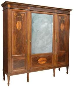 Antique Bookcase, French Marquetry, Inlaid, Louis XVI Style, Gorgeous, 1900's!