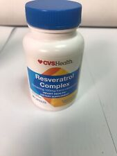 90ct Resveratrol Complex 100mg Heart Health dietary supplement vitamins 11/2020