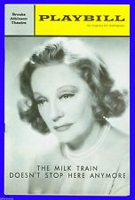 Playbill + The Milk Train Doesn't Stop Here Anymore + Tallulah Bankhead