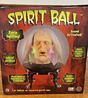 Vintage Gemmy Spirit Ball Witch Talking Sound Activated Halloween Animated