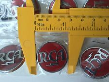 RCA Vintage Tube Broadcast Equipment Badge Microphone EV Altec WE AT