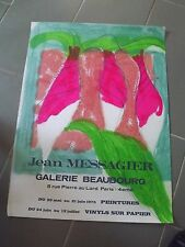 affiche expostion jean MESSAGIER 1975 af 80
