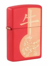 Zippo Year of the Ox Red Matte Windproof Pocket Lighter, 49233