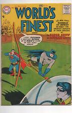WORLD'S FINEST #86 (1957) Superman Batman Robin Green Arrow SHARP