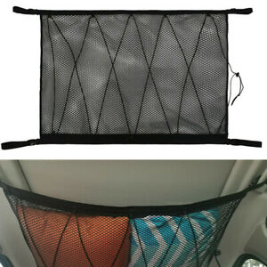 Car SUV Roof Luggage Cargo Double-deck Net Bag Breathable Mesh Storage Pocket