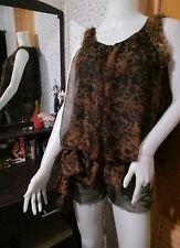 brown chic top
