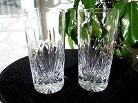 "Set of 2 High Quality Crystal Highball Glasses 5 7/8"" Tall"