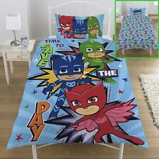 Pj Masks Save The Day Conjunto de Funda Nórdica Individual Reversible