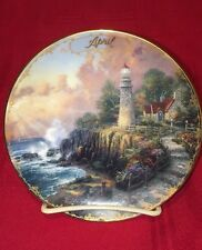 "1998 Thomas Kinkade 5.5"" April The Light Of Peace Calendar Plate Euc Bradford"