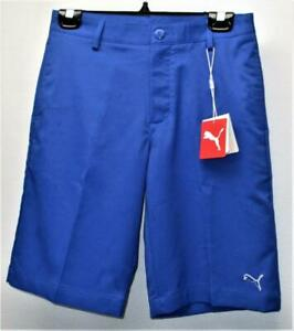 New Size Small Junior Boys PUMA Tech Polyester surf the web golf shorts