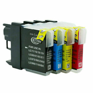 4 Ink Cartridges fit Brother LC1100 LC980 DCP-375CW DCP-145C DCP-163C DCP-165C