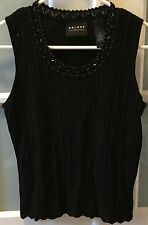 Women's Liz Claiborne Axcess Black Tank Top Size Medium