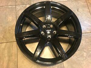 20x8.5 Black Wheel Voxx Divo 5x114.3 Mustang Ford Pattern Single Rim Cheap
