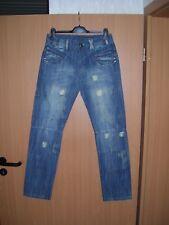 Herren Jeans Jeanshose Worker Style gerades Bein blau used look W32 L32 neu