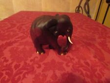 carved wood elephant figurine from india