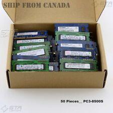 Lot of 50 Pcs DDR3 1GB Laptop Memory Ram PC3-8500S mix brands,Random shipping