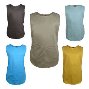 Tabard Aprons Cleaning Catering Tabard Overall Work Wear 2 Pockets stub buttons
