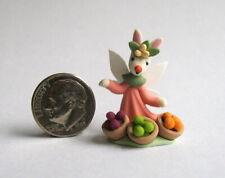 Handmade Miniature  HARVEST BOUNTY  BUNNY FAIRY - OOAK C. Rohal