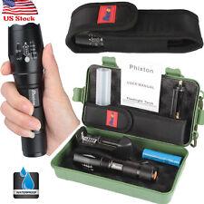 10000LM XM-L T6 LED Tactical Survival Flashlight+18650 Battery+Charger+Case