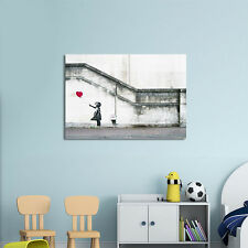 """Canvas Print Wall Art Banksy Red Balloon Girl Painting Repro Home Decor 20x24"""""""