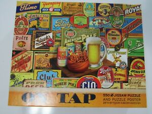 Ceaco On Tap 550 Piece Puzzle W Puzzle Poster New Sealed