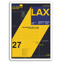 2 x 10cm Los Angeles Airport Vinyl Stickers - LAX Sticker Laptop Luggage #17129