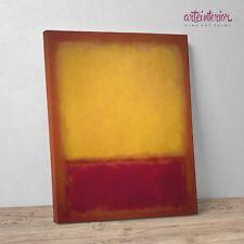 """Mark Rothko 'Yellow over Purple"""" Stampa Fine Art su tela Canvas Quadro Astratto"""