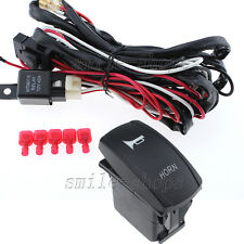 12V On/Off Red Laser Horn Light Rocker Switch + Wiring Harness Relay Fuse