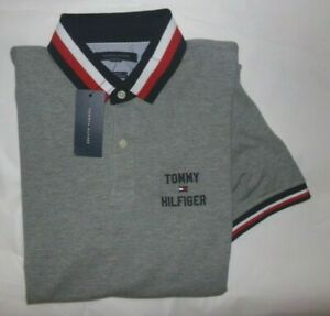 NWT Mens Tommy Hilfiger S/S Polo Shirt~Custom Fit~GRAY~XXL