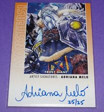 2014 Goodwin Champions Monsters! FROST GIANT #M44 Artist ADRIANA MELO Auto SP/25