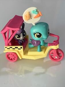 Littlest Pet Shop City Rides Turtle Toodles Tortuga Bunny Lolly Lapinfluff