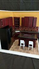 """Corner Kitchen"" A Hand Crafted 1:6 Scale Diorama Room Box 043"