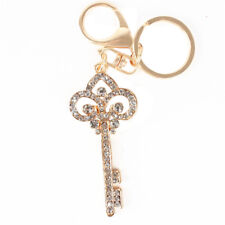 Vintage Key Style Lovely Charm Pendent New Crystal Purse Bag Keyring Chain Gift
