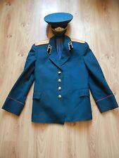 Vintage Russian Soviet Officer Army USSR Uniform Jacket Military + CAP CCCP