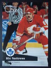 NHL 363 Ric Nattress Calgary Flames Pro Set 1991/92