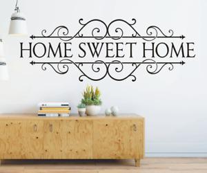 X4645 Wandtattoo Spruch Home Sweet Home Zuhause Flur Sticker Wandaufkleber Bild